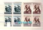 1957  80an De La Liberation Du Joug Turc  2v-MNH Block Of Four  BULGARIE  / Bulgaria - Ungebraucht