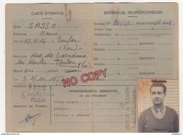 Au Plus Rapide Carte D'identité Et Attestation Assurance S.. Henry Chauffeur Routier Poids Lourds Camion - Cars