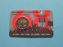 2018 > 50 Ans MAI 1968 ( 2 EURO ) (FR/D) Koninklijke Munt Van België ( Zie Foto's > For Grade, Please See Photo ) ! - Belgien