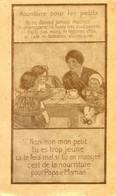 Publicité Pour Une Nourriture Adaptée Pour Les Petits; Pas De Charcuterie, Fruits Pas Murs, Café, Alcool... Dietetique - Publicidad