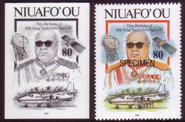 Tonga Niuafo'ou 1993 - One Of The King's Achievements - The Tongan Satellite - Proof + Specimen - Oceania