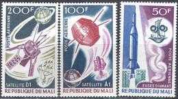 M2602 ✅ Space Raumfahrt Rockets Satellites Metallography 1967 Mali 3v Set MNH ** 7ME - Africa