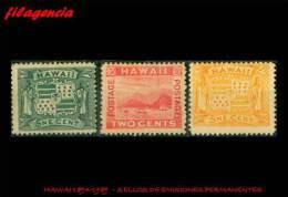 PIEZAS. HAWAI MINT. 1894-1898 SELLOS DE EMISIONES PERMANENTES - Hawaii