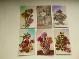 Beau Lot De 60 Cartes Postales De Fantaisie Fleurs  Fleur  Mooi Lot Van 60 Postkaarten Fantasie Bloemen Bloem - 60 Scans - 5 - 99 Karten