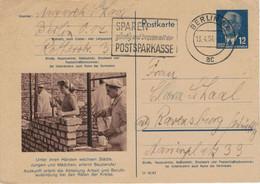 Niemand Hat Die Absicht, Eine Mauer Zu Errichten! - Berlin N4 1954 - Ganzsache Ziegel Maurer Mörtel DDR Pieck - Postkarten - Gebraucht