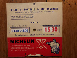 DISQUE MICHELIN  IMP. CARIO 1969 - Cars