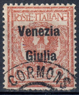 TERRE REDENTE VENEZIA GIULIA 1918/19 - C. 2 FLOREALE SOPRASTAMPATO 'VENEZIA GIULIA' - USATO / USED ⦿ SASSONE 20 - Venezia Giulia