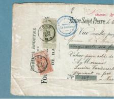 59 Et 57  Obl  Mons Sur Doc. - 1893-1900 Fine Barbe