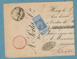 60  Obl  Huy (centre)  + 2 Sur Doc. - 1893-1900 Fine Barbe
