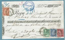 56/57/60/64 Sans Bdl Sur Doc. Obl  Charleroi (Station) - 1893-1900 Fine Barbe