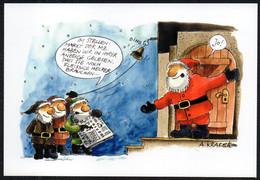 F4355 - A. Krakow Humor Scherzkarte - Weihnachtsmann Santa Claus - Santa Claus