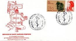 LETTRE ILLUSTREE FRANCE 1986 - OBLIT. TEMPORAIRE - CONGRES DES SERVICES DE SANTE DES POMPIERS - - Firemen