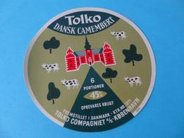 Etiquette De Camembert Portions Tolko Danemark - Cheese