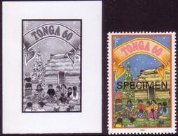 Tonga 1993 - Christmas Feast On Ground, Island Style - Proof + Specimen - Natale