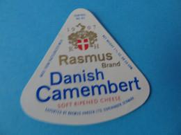 Etiquette De Portion De Camembert Rasmus Danemark - Cheese