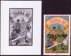 Tonga 1993  Island Christmas Tradition - Shooting Bamboo Cannon - Proof + Specimen - Details In Item Description - Natale
