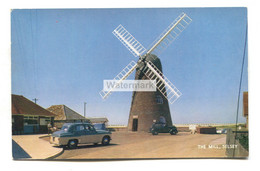 Selsey - The Mill, Windmill, Vintage Cars - 1950's Or 60's Sussex Postcard - Chichester
