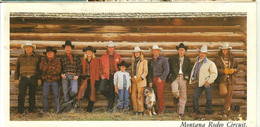 Montana Rodeo Circuit- Photo De  Zitter-publicité Relaxed Sisley Elegance-cpm Grand Format - Publicidad