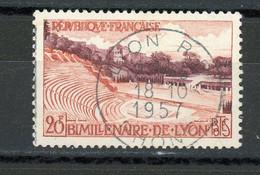 FRANCE - LYON - N° Yvert 1124 Belle Obliteration Ronde De LYON 1957 - Usados