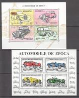 RM323 1996 ROMANIA ANTIQUE CARS AUTOMOBILES TRANSPORT BL303-304 MNH - Automobili