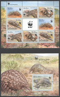NW0548 2013 MOZAMBIQUE WILD ANIMALS WWF PANGOLINS #6429-6432 BL737 MNH - Unused Stamps