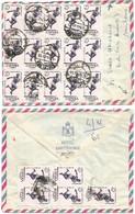 Athletics Iberoamerican Games In Madrid 1962 - C.25 Block5 + Block 15 Simple Franking Airmail Hotel CV Barcelona 5nov62 - 1961-70 Storia Postale