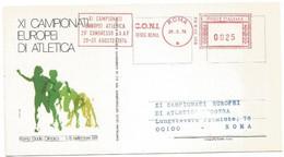 Atletica Athletics 1974 XI° Campionati Europei XXIX° IAAF Congress Roma 29aug74 L.25 - Red Meter EMA Rossa Meccanica - Atletica