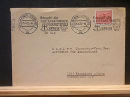 95/703 LETTRE BERLIN 1952 FLAMME FILMFEST. - Briefe U. Dokumente