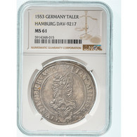 Monnaie, Allemagne, Hamburg State, Thaler, 1553, Hamburg, NGC, MS61, SUP+ - Taler & Doppeltaler