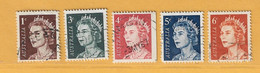 Timbre Australie N° 319 - 321 - 322 - 323 A - 323 B - Used Stamps