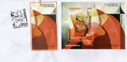 2021. Art Contemporani (Joan Monegal) Peintre Catalan.Pintor Catalán.  Hojita/ B-F. Primer Dia Andorra.  FDC. AND.ESP - FDC