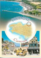 Poissons & Crustacés - Plateau D'Huitres - Carte De La Bretagne - Cancale - Cpm - Vierge - - Fish & Shellfish
