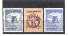 BAU1331 TSCHECHOSLOWAKEI 1950 Michl 605/07 ** Postfrisch ZÄHNING SIEHE ABBILDUNG - Unused Stamps