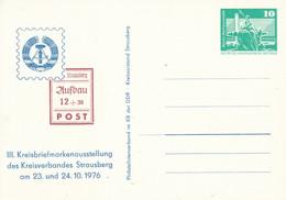 DPP 15/65  III. Kreisbriefmarkenausstellung Des Kreisverbandes Strausber 1979 - Privatpostkarten - Ungebraucht