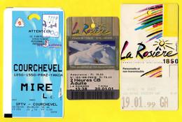 """Lot De 3 Forfaits De Ski Stations """"Courchevel & La Rosière"""" - Sports D'hiver Savoie - Sport Invernali"""