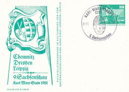 DPP 16 C2/17 Chemnitz Dresden Leibzig - 9. Sachsenschau Karl-Marrr-Stadt 1981, Karl-Mark-Stadt 1 - Privatpostkarten - Gebraucht