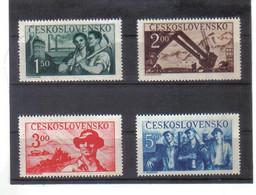 BAU1264 TSCHECHOSLOWAKEI 1950  MICHL  614/17  ** Postfrisch  Zähnung Siehe ABBILDUNG - Unused Stamps