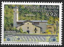 2014 Andorra ES Mi.415**MNH  30. Jahrestag Der Einstellung Des Sendebetriebs Von Radio Andorra - Unused Stamps