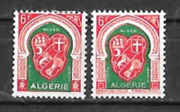 Algérie N° 337D Et 353 Neufs Sans Charnière Pour Le 353, Trace Pour Le 337D - Unused Stamps