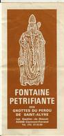 Clermont Ferrand- Fontaine Petrifiante Des Grottes Du Perou De Saint Alyre-depliant Publicitaire- - Dépliants Turistici