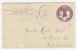 San Rafael Preprinted Postal Stationery Letter Cover Posted 1894 B211015 - ...-1900