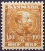 DENEMARKEN 1904 100õre Geelbruin Christian IX PF-MNH-NEUF - Unused Stamps