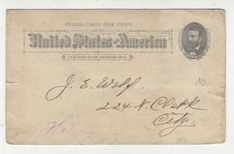 German American Democratic Club Of The 24th Ward Preprinted Postal Stationery Postcard B211015 - ...-1900