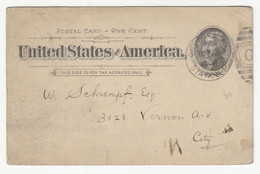 Chicago Anti-Compulsory Vaccination Legue Preprinted Postal Stationery Postcard Posted 1894? B211015 - ...-1900