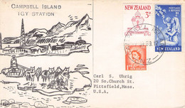 NEW ZEALAND - STATIONERY COVER 1959 CAMPBELL ISLAND / QG113 - Covers & Documents