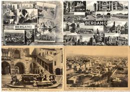 Saluti Da BERGAMO (LOMBARDIA) - 4 Cartoline Viaggiate - Bergamo