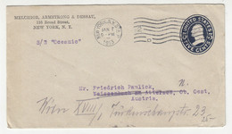 Melchior, Armstrong & Dessau, NY Preprinted Postal Stationery Letter Cover Posted 1913 S/S Oceanic B211015 - 1901-20