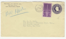 Travers And Hennig Inc., San Francisco Preprinted Postal Stationery Letter Cover Posted 1939 B211015 - 1901-20