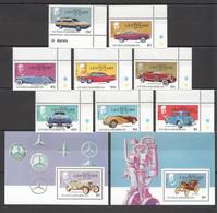 N995 ANTIGUA & BARBUDA TRANSPORT CARS #983-990 MICHEL 25 EURO 2BL+1SET MNH - Automobili