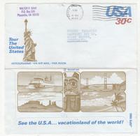 USA 30 C Postal Stationery Aerogramme Posted 1981 To Yugoslavia B211015 - 1981-00